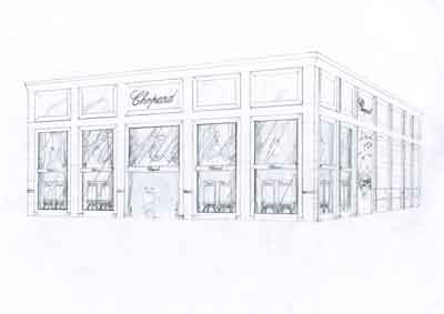 Renderings of the new Chopard Pavillion