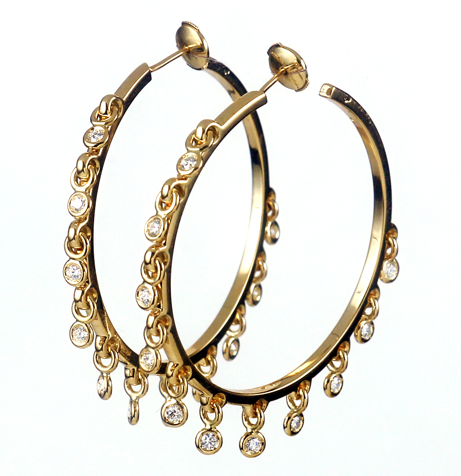 Christian Dior Coquina hoop earrings up for sale on CharityBuzz.com's auction for causes.