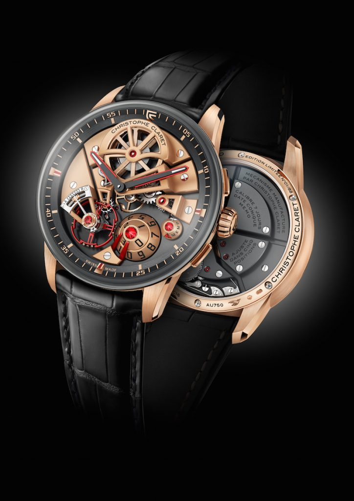 Christophe Claret Maestro in 18-karat rose gold with Memo reminder feature ($76,000)