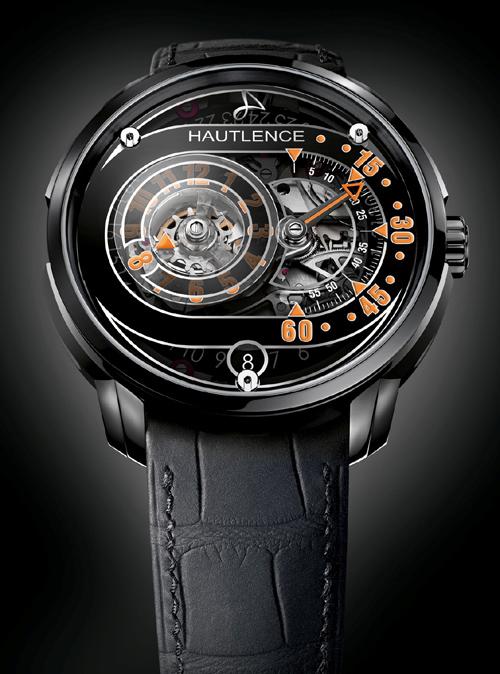 The orange version of the new Avant-Garde Hautlence HLRQ03