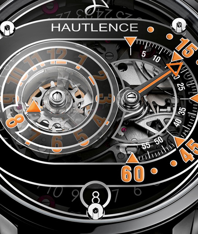 The Hautlence HLRQ03 offers jump hours, jump date and retrograde minutes.