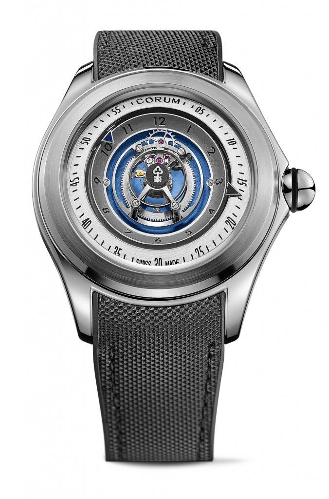 Corum Bubble 27mm Central Tourbillon (Swoosh) watch.