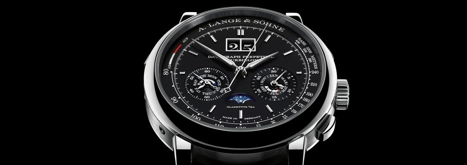 A. Lange & Sohne Datograph Pereptual Tourbillon is crafted in a limited edition of 100 pieces