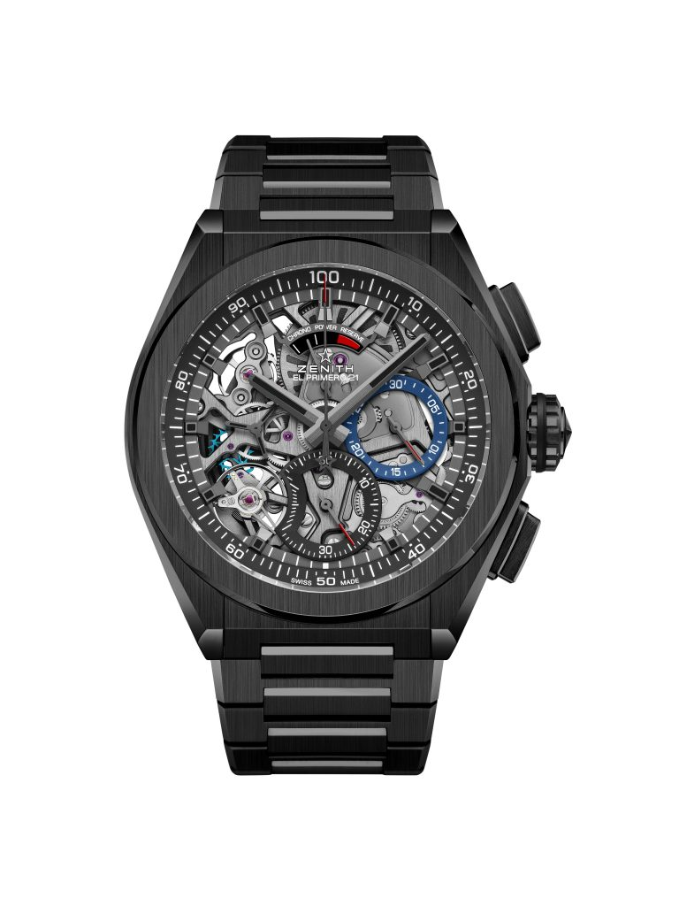 Zenith Defy Black Ceramic with black ceramic bracelet.