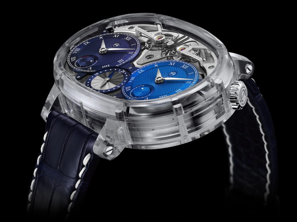 Armin Strom Masterpieces Dual Time Resonance Sapphire Watch, SIHH 2019