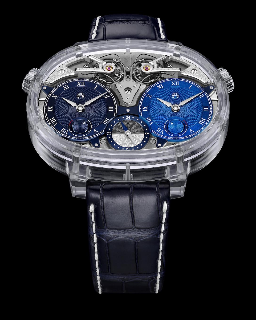 Armin Strom Masterpieces Dual Time Resonance Sapphire Watch, SIHH 2019