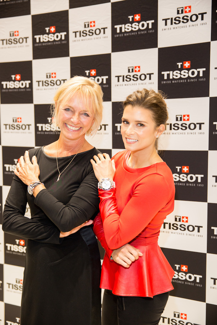 Danica Patrick and US brand manager of Tissot, Sharon Buntain.