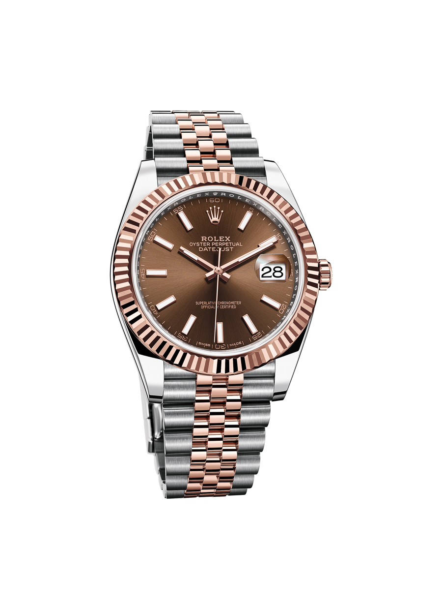 Rolex Oyster Perpetual Datejust 41 with chocolate brown dial goes to the winner