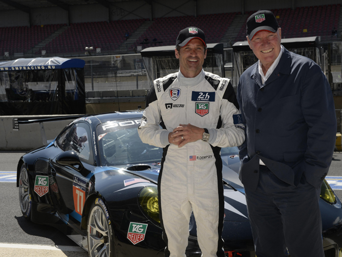 Patrick Dempsey and Jean Claude BIver of LVMH Watch Jewelry