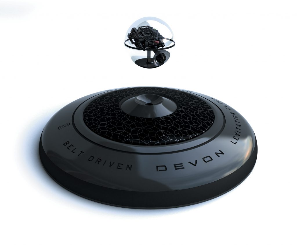 Devon Works Interstellar Levitation desk clock