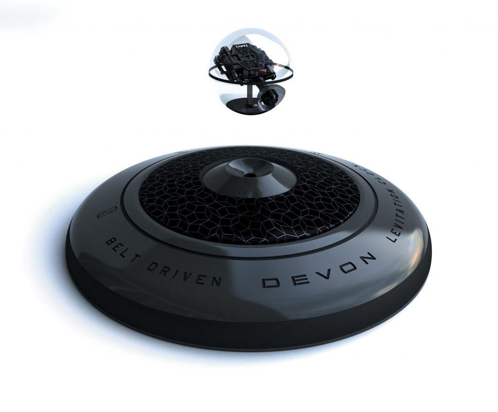 Devon Works Interstellar Levitation desk clock
