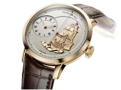 The Arnold & Son TB Victory houses a proprietary automatic movement with True Beat Seconds.