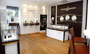 The new Ulysse Nardin  NY boutique recalls the brand's nautical heritage.