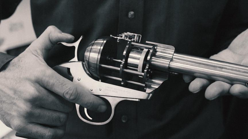 The Unnamed Society Colt Revolver Clock
