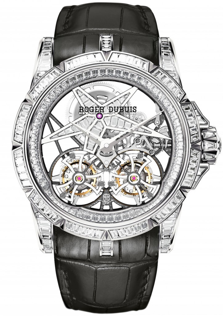 Front view of the Excalibur Star of Infinity Baguette watch