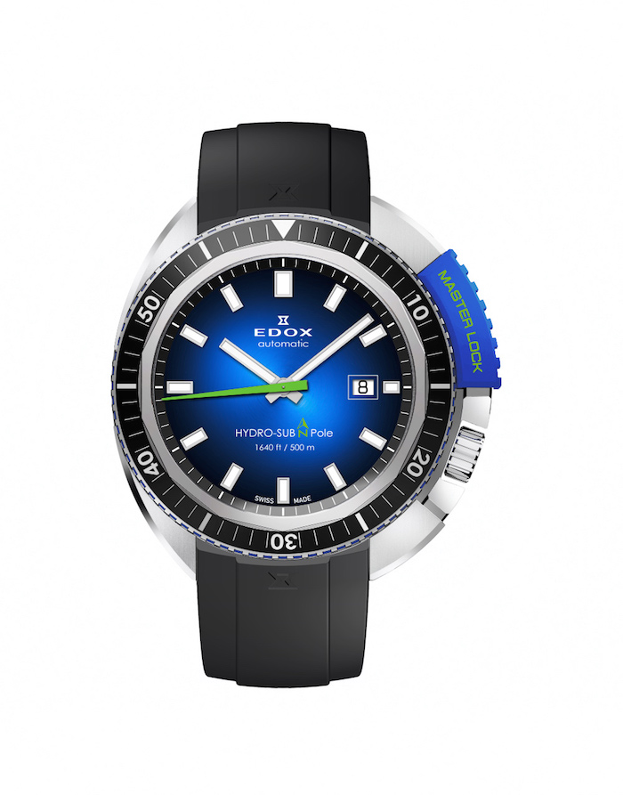 The Edox HydroSub with rubber bracelet