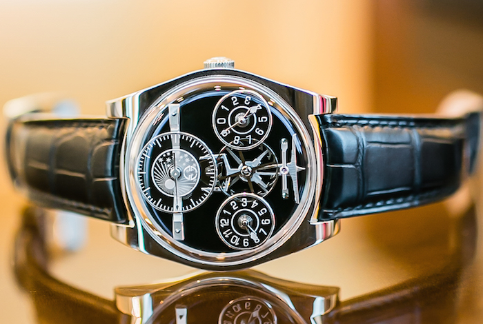 The Complication One houses a hand-wound movement with 283 parts