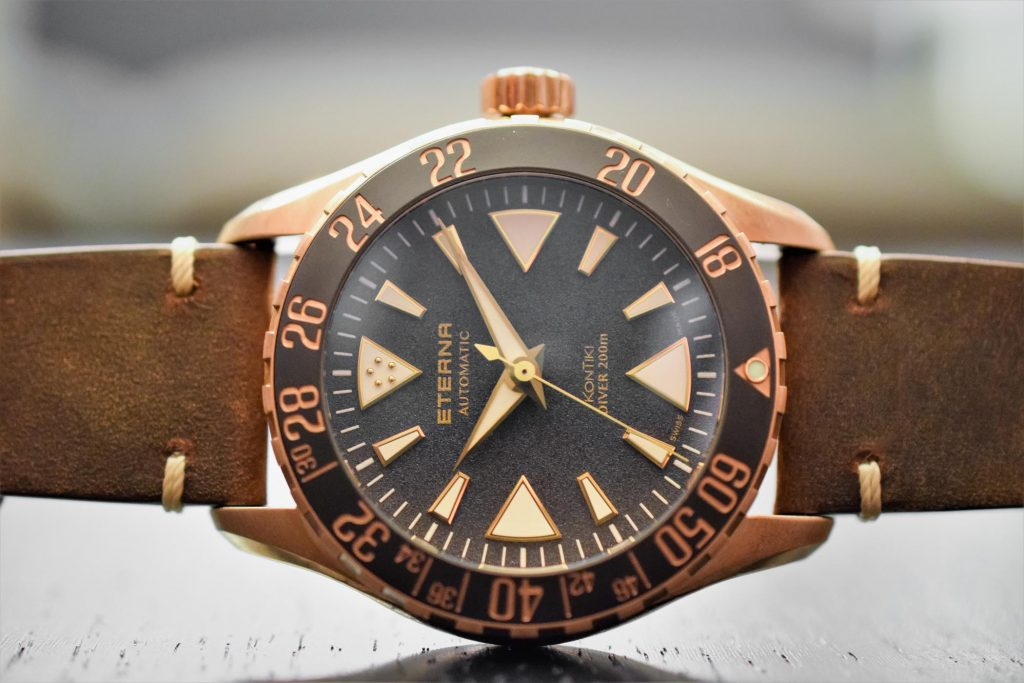 Eterna KonTIki Bronze Manufacture watch, photo courtesy of our good friends at Monochrome-Watches.com.