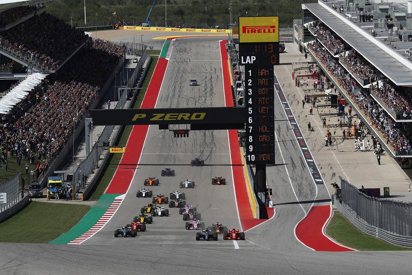 Formula 1 racing at COTA with Rolex