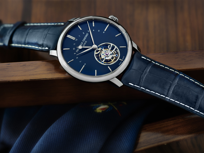 Manufacture Tourbillon FC-980 Automatic movement with Hours, Minutes, Day and Night indicator, Tourbillon 60 seconds, silicium escapement wheel and anchor. $39,995