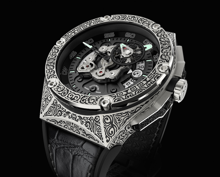The Maori version of the Dubarry Crazy Wheel is inspired by tattoo art of the culture and is totally engraved.