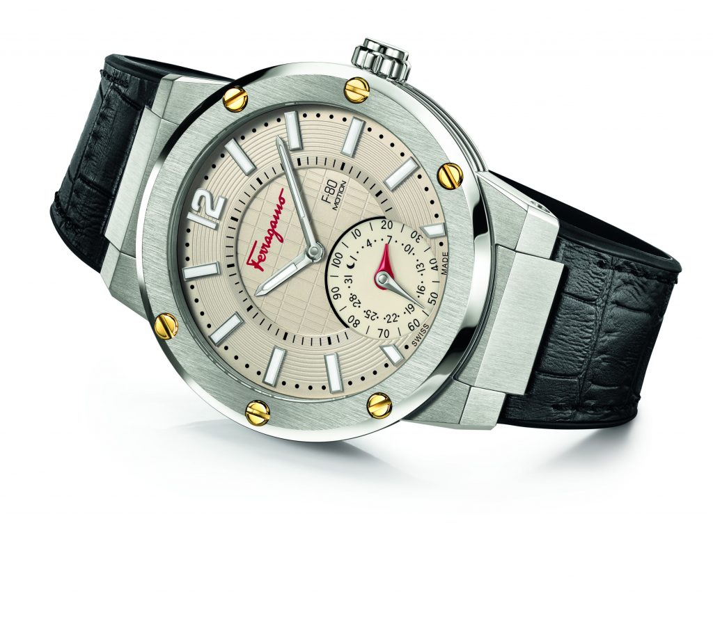 Ferragamo F-80 Motion watch offers activity tracking, adaptive coaching, sleep monitoring and time zone synchronization.