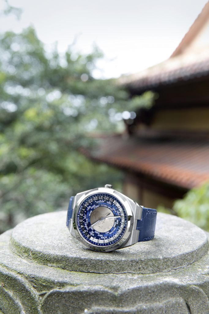 Overseas World Time watch shot on location in China