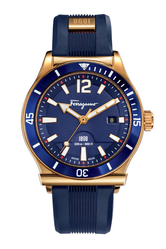 Ferragamo 1898 Sport watch in rose gold IP