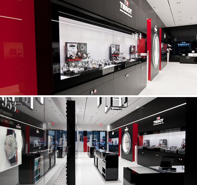 Inside the Tissot Boutique.