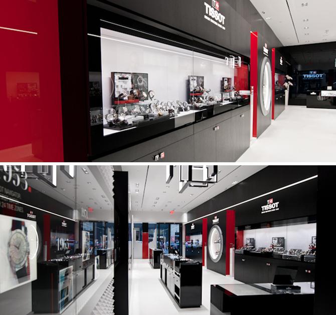 Inside the Tissot Boutique.
