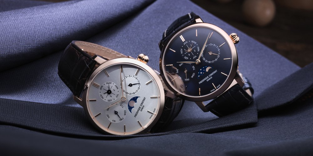 The Frederique Constant Perpetual Calendar houses the FC 775 in-house-made caliber