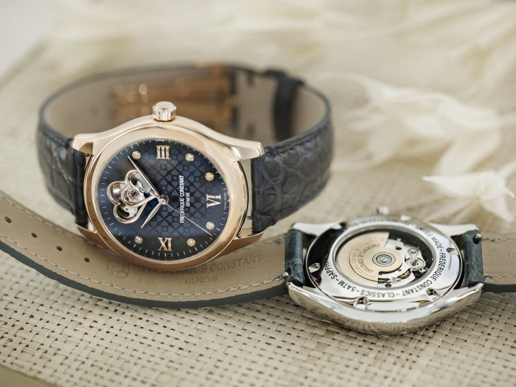 Frederique Constant Ladies Automatic Double Heart Beat watch is powered by the FC-310 caliber.