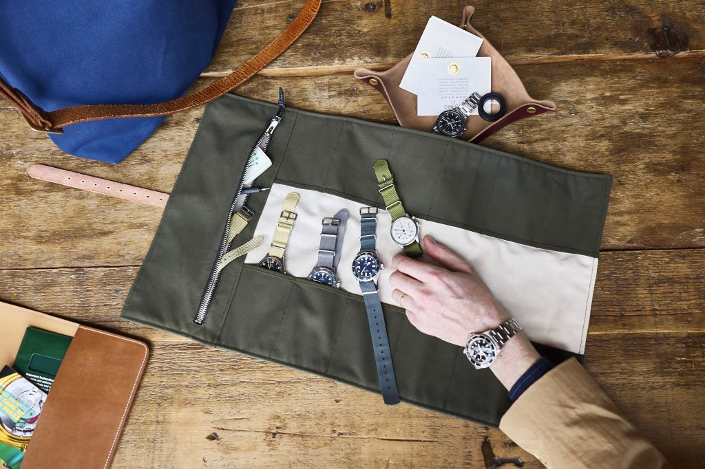 Grahame Fowler and Analog Shift produce the GAS line of watch rolls, totes and more. Photo: Courtesy of Atom Moore, Analog/Shift