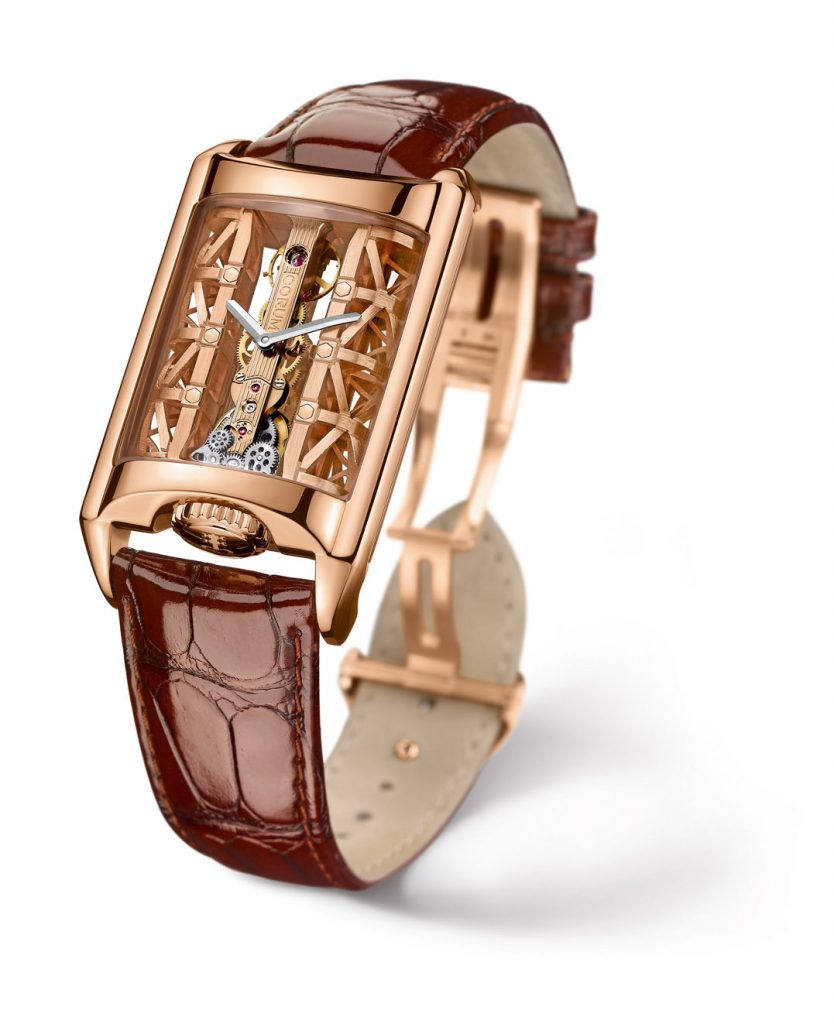 Corum Golden Bridge Stream watch takes inspiration from the architectural aspects of the Golden Gate Bridge.