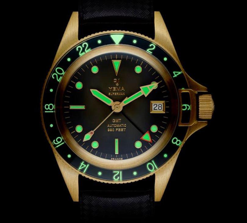 Yema Superman GMT Bronze watch
