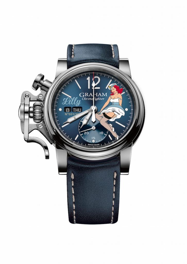 Graham Chronofighter Vintage Nose Art Ltd. watches are inspired by history.