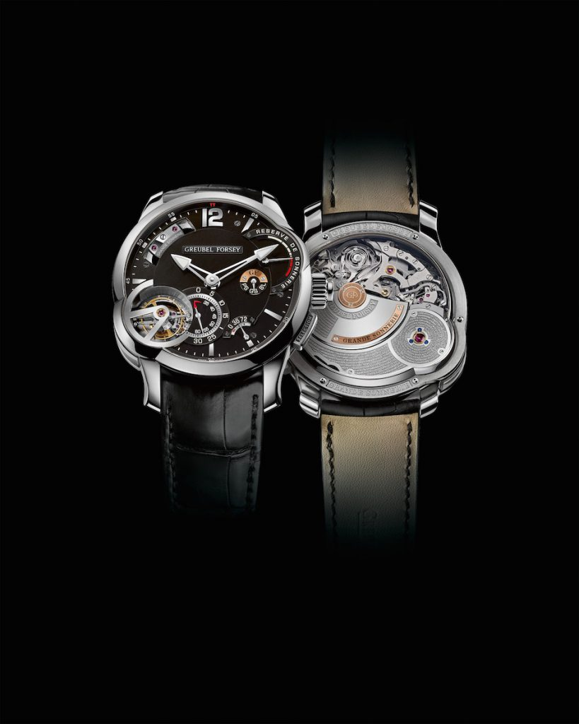 Greubel Forsey Grande Sonnerie in titanium retails for about $1.4 million; unveiled at SIHH 2017.