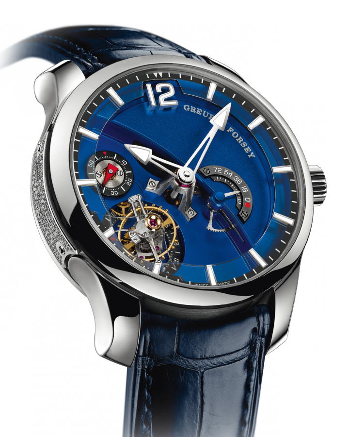 Earlier Greubel Fosey Contemporaine watch showing the sapphire bridge.