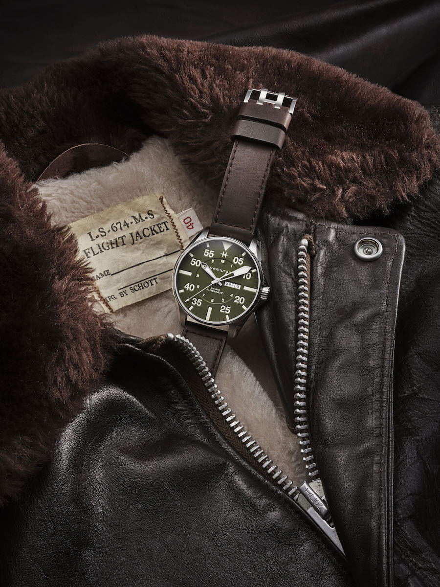 Hamilton Khaki Pilot Schott NYC watch