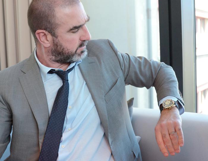 Eric Cantona wearing his Hautlence watch