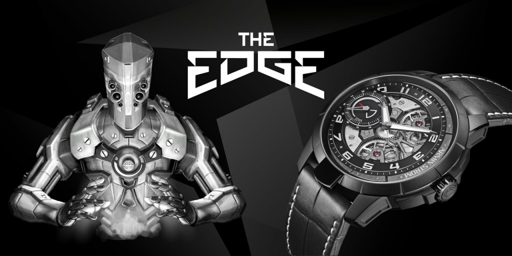 Armin Strom created a futuristic robot to convey the story of the edgy look of The Edge Double Barrel