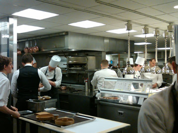 In the kitchen at 11 Madison park