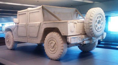 Styrofoam Hummer H1 by Andrew Junge