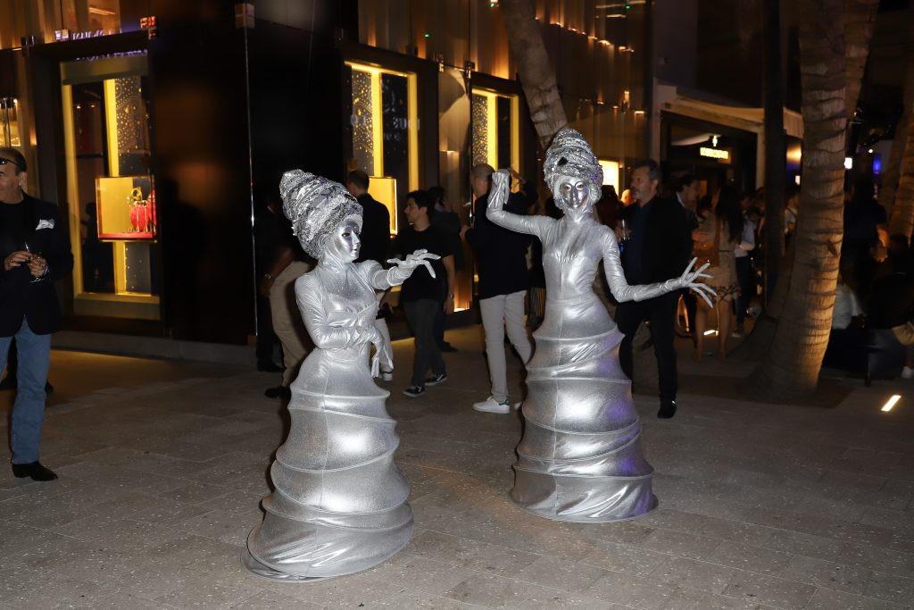 The opening night party for Watches & Wonders Miami featured flame swallowers, dancers and more.