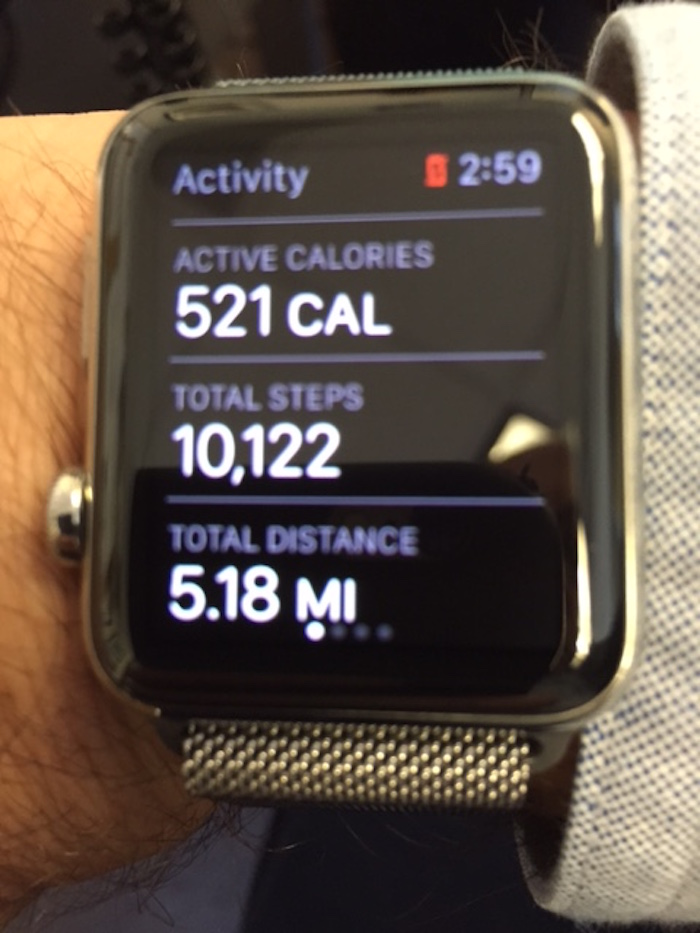 Activity tracking on the Apple iPhone (photo C: Norman Miller)