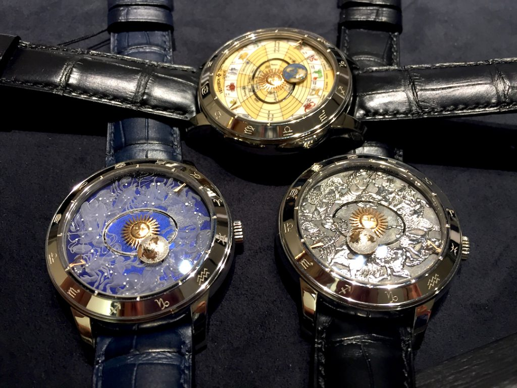 Vacheron Constantin Metiers d'Arts Copernicus Celestial Spheres 2460 RT watches as unveiled at SIHH 2017 (photo: R. Naas)