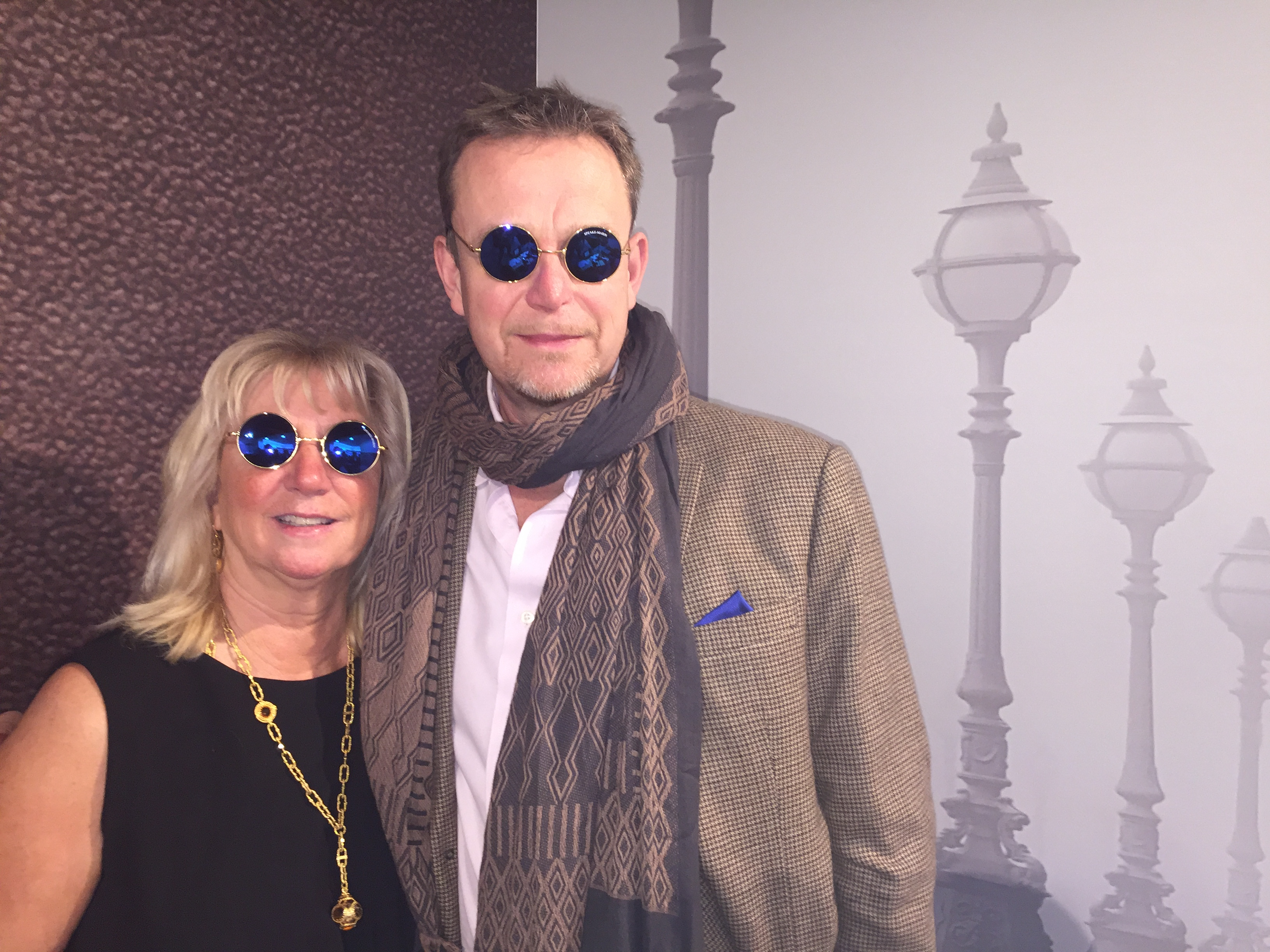 Roberta Naas, founder of ATimelyPerspective, and Peter Speake-Marin at SIHH 2017.