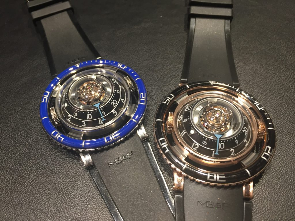 """The MB&F HM7 Aquapod case sits within an outer bezel but is not """"fixed"""" to the bezel."""