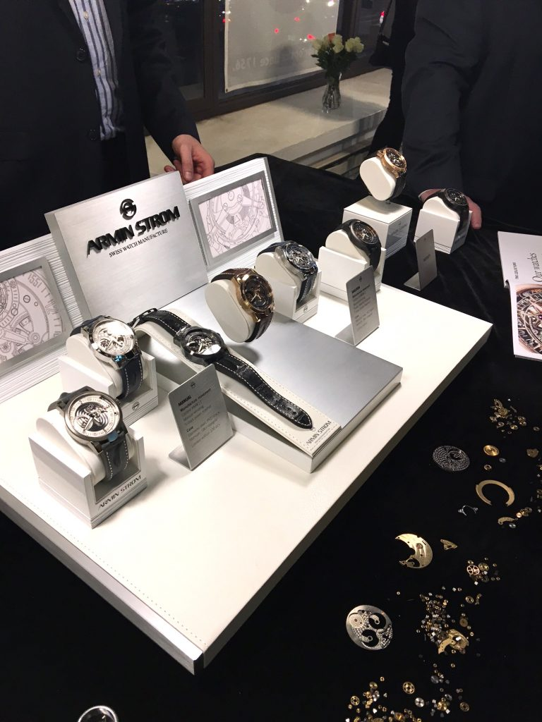 A display of Armin Strom watch at the NYC event.