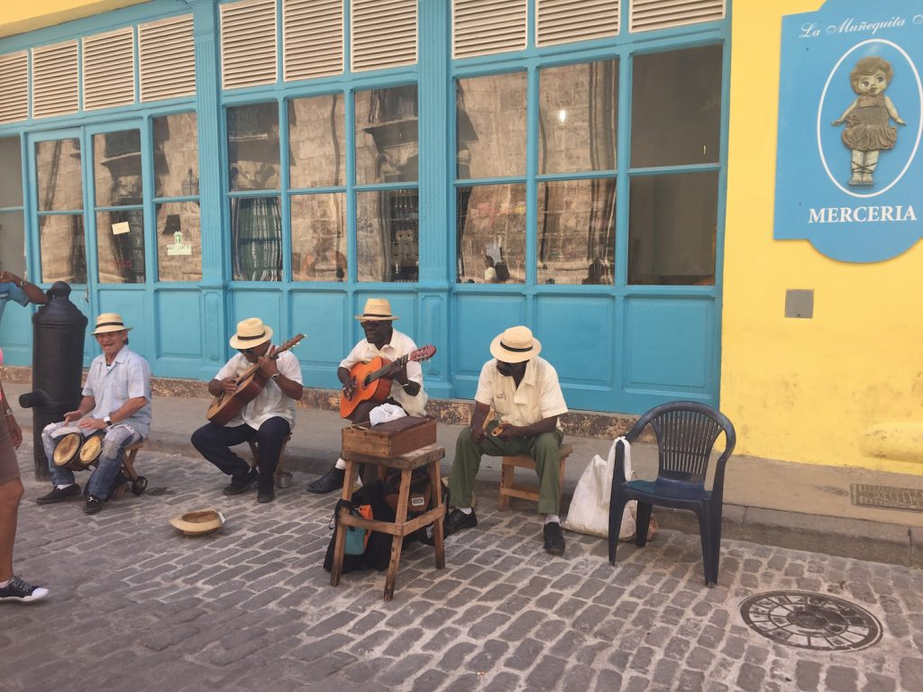 Around every corner in Old Havana, people are enjoying life, playing music, laughing. (Photo: R. Naas)